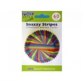 PME BC728 Snazzy Stripes Baking Cups 60stuks