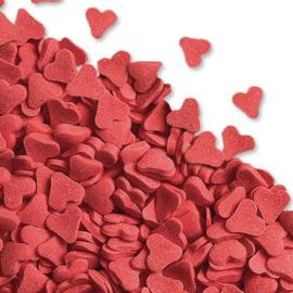 I suiker hartjes middel rood