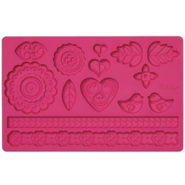 Wilton 409-2550 Folk Fondant and Gum Paste Mold