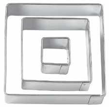 Wilton 417-  uitsteker vierkant, set van 3