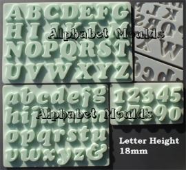 AM0118 Alphabet set Cookie Font 18mm