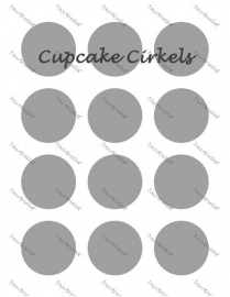 Cupcake cirkels  ouwel of frosting 12 stuks