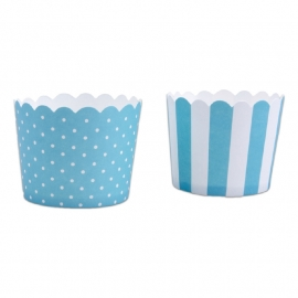 337046 Städter baking cups turquoise-wit mini