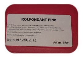 I rolfondant roze 250 gram