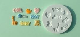 AM0010 Baby girl-boy mould (baby jongen/meisje)