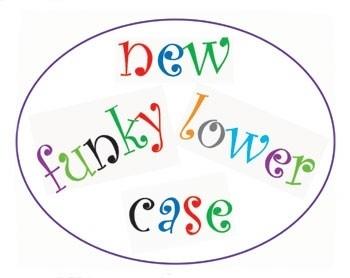 FMM CUTFUNKLC Funky Alphabet Tappits Lower Case