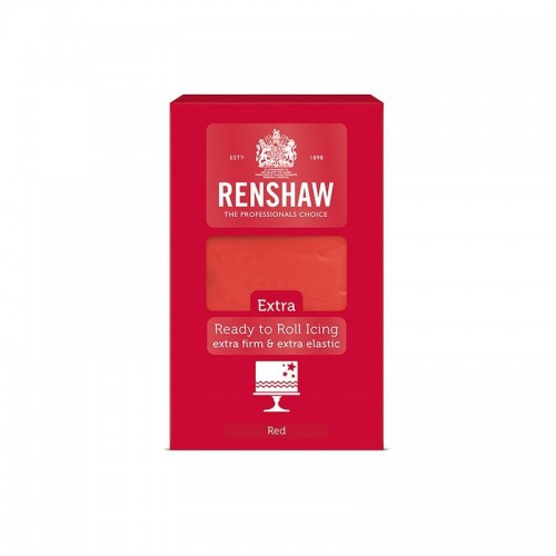 Renshaw ready to Roll Icing Extra- (1) kg Rood