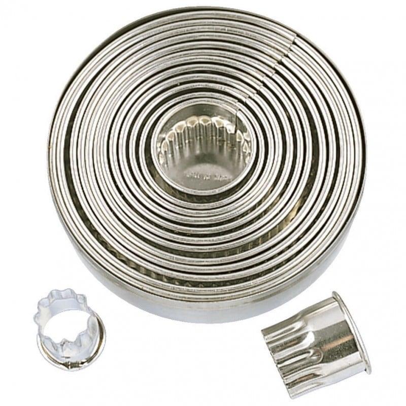 007079 Städter Metaal Uitstekers set van 14 ringen gekarteld