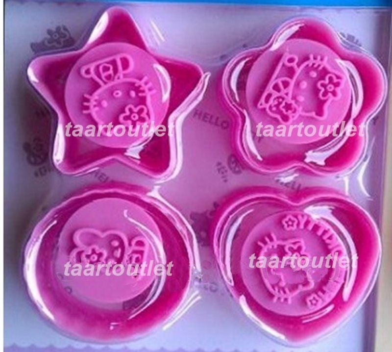 I Hello Kitty cookie/fondant cutters Set
