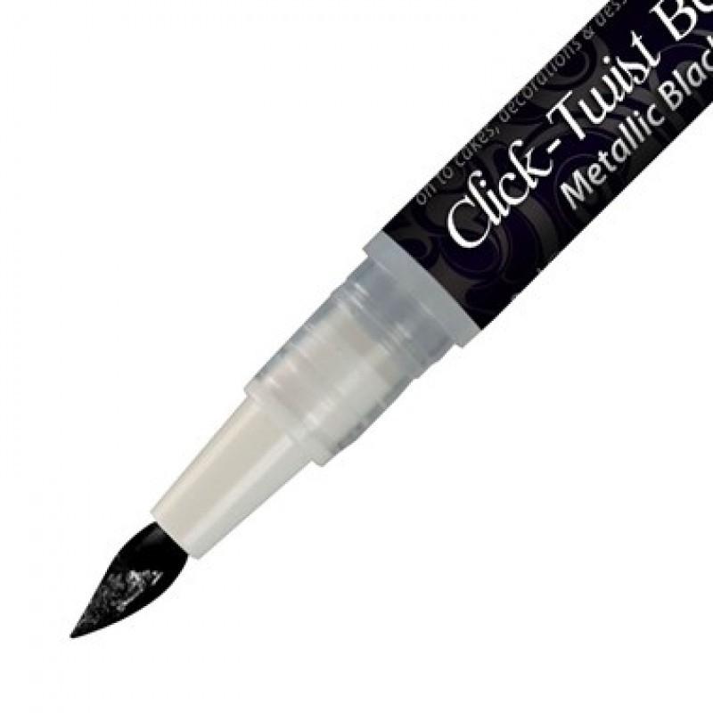 RD Paint It! Click-Twist Brush metallic black