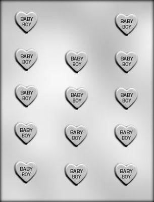CK 90-11510 BABY BOY HEART CHOC MOLD