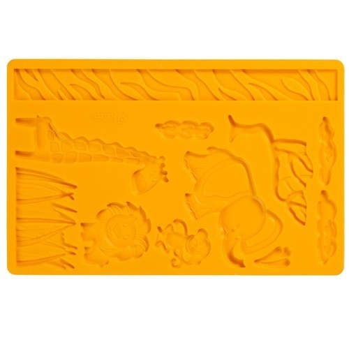 Wilton 409-2558 Fondant & Gum Paste Mold Jungle Animals