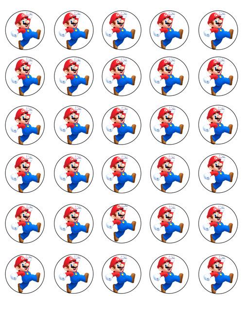 Super Mario mini cupcake