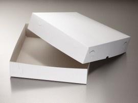 / Zwanenhals taartdoos 30 X 30 X 10 cm hoog!