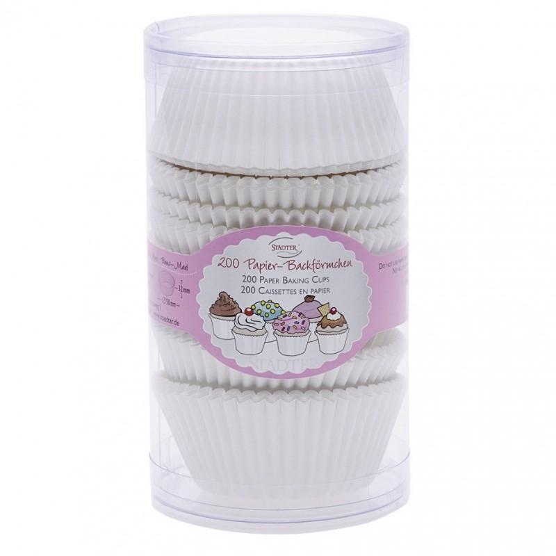 335417 Städter Baking cups wit 200 stuks
