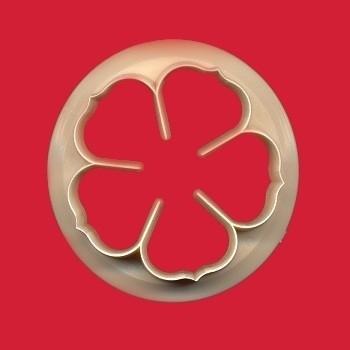 FMM CUTROP75 5 petal rose cutter 75mm