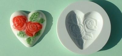 AM0008 heart   ( Hart met rozen)