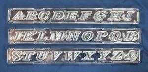 Windsor Clikstix UPPER CASE SCRIPT CS02