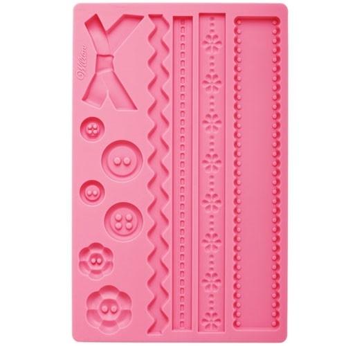 Wilton 409-2563 Fabric Fondant & Gum paste mold