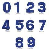 cijfer kaars  blauw (0)