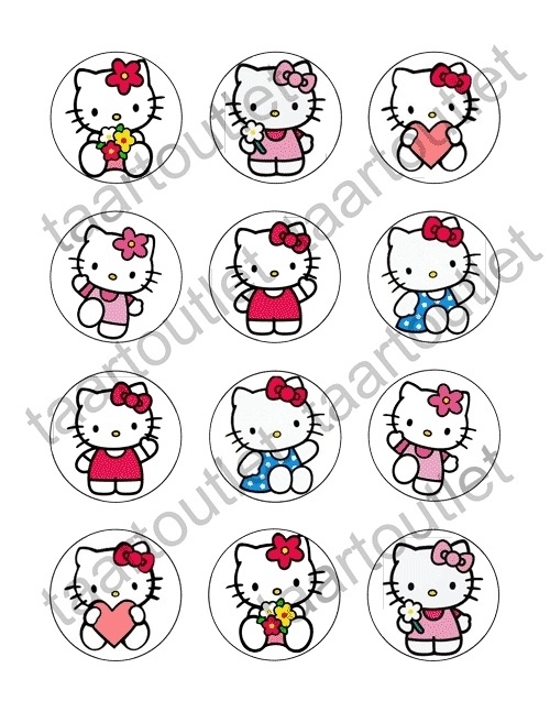 Hello Kitty 2 cupcake