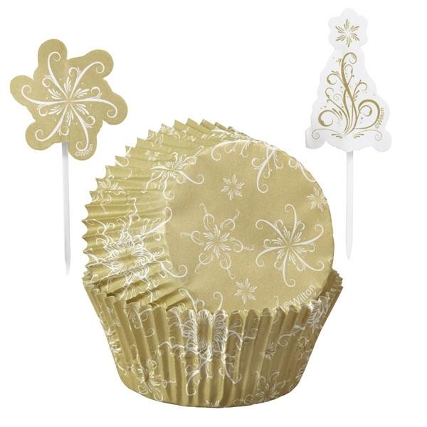Wilton 415-2625 Christmas Sparkle and Cheer Cupcake Combo