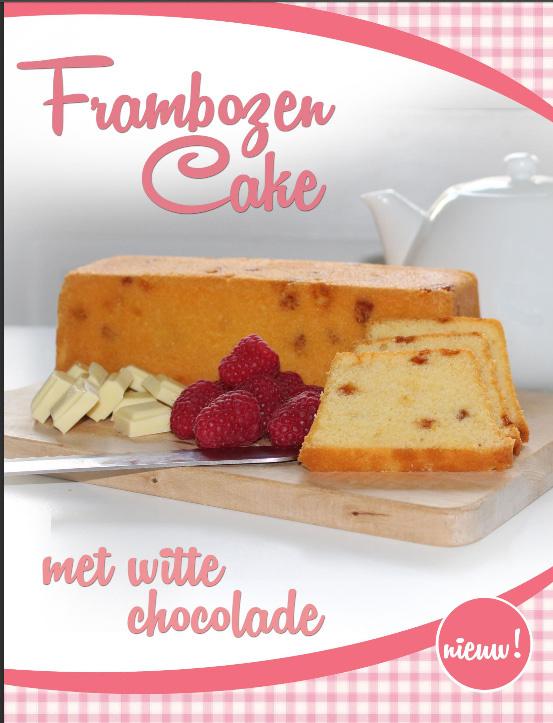 Frambozencake met witte chocolade