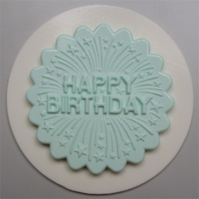 AM0082 Decoratieve cupcaketopper Happy birthday with firework