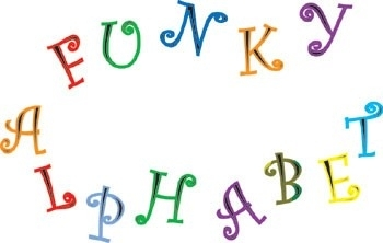 FMM CUTFUNK Funky Alphabet & Number Set