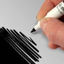 RD double sided food pen Black / zwart