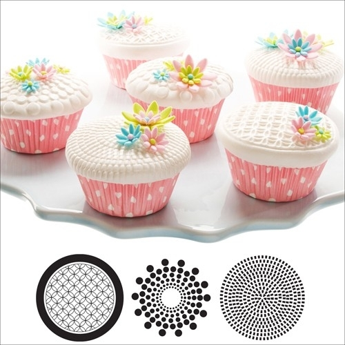 CK 43-4804 Cupcake/Cookie Texture Tops Geometric