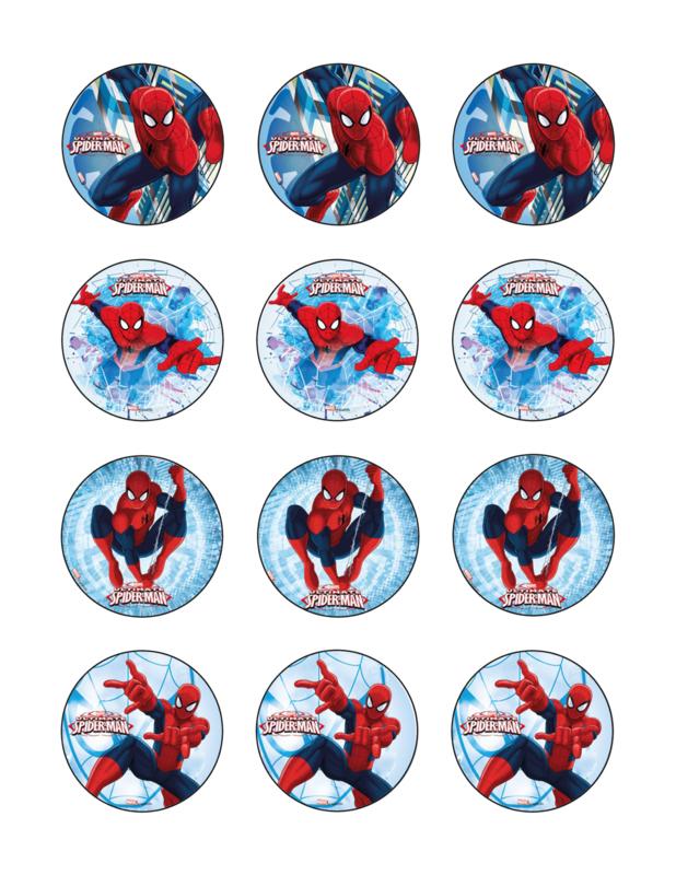 Spiderman cupcake 1