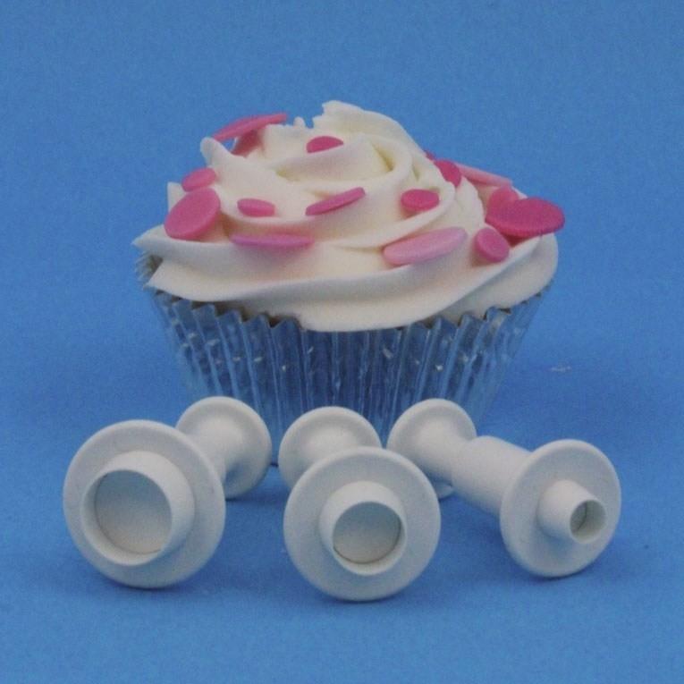PME MR151 Miniature Round Plunger Cutter set van 3