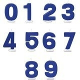 cijfer kaars blauw  (8)