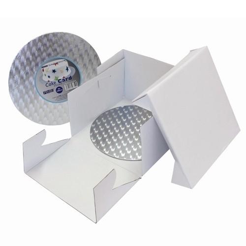 PME BCR867 Cake Box & Round Cake Board (3mm) 25x25x15 cm