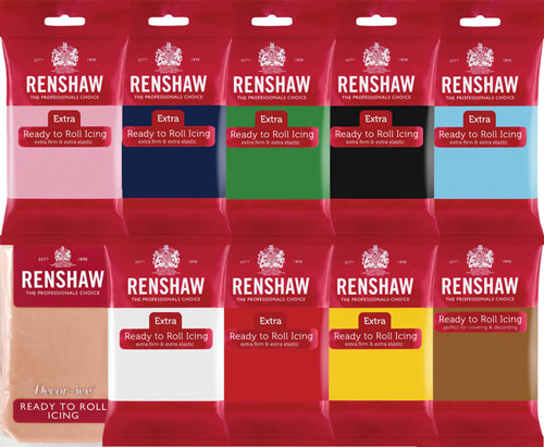 Renshaw rolfondant set van 10