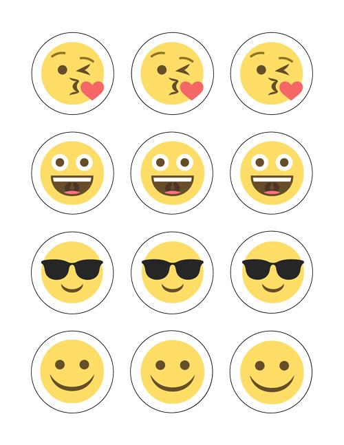 Emoji cupcake
