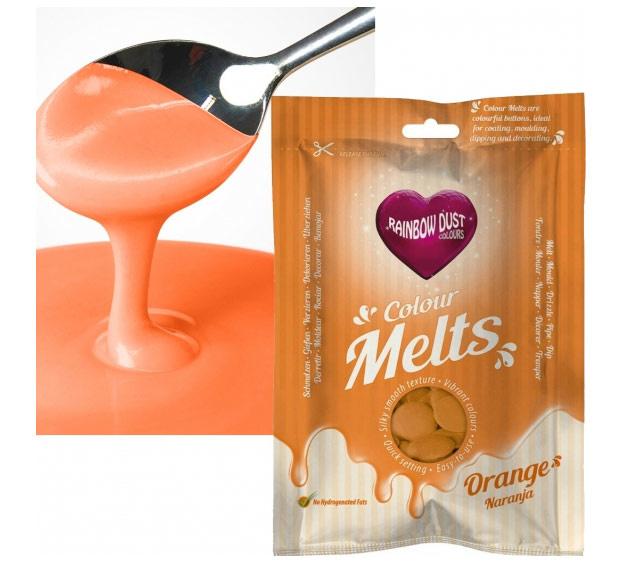 Rainbow Dust Colour Melts orange 250 gram.