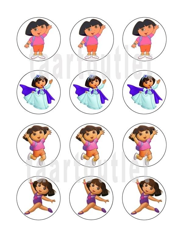 Dora 5 cupcake