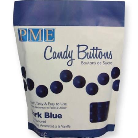 PME CB003 Candy Buttons Dark Blue 340g