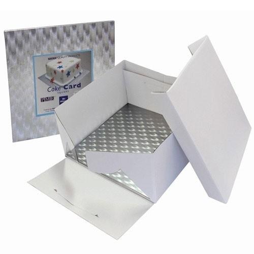 PME BBS888 Cake Box & Square Cake Board (12mm) 25x25x15