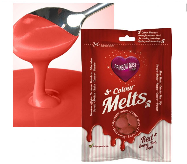 Rainbow Dust Colour Melts Red 250 gram.