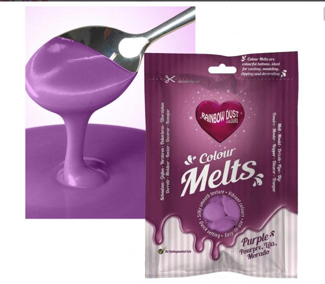 Rainbow Dust Colour Melts Purple 250 gram.