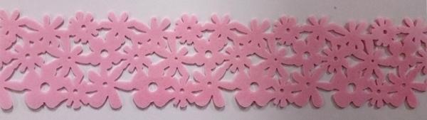 Bloemenrand roze