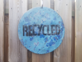 Retro  recycled bord metaal