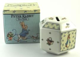 Spaarpot Hexagonaal Teatime - Wedgwood Peter Rabbit