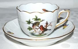 Kop & Schotel III (6,9 cm.) - Herend Rothschild Bird