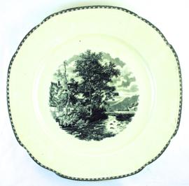 Serveerschotel (30,5 cm.) - Societé Ceramique Maestricht Landschap