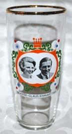 Bierglas Beatrix - Claus 10 maart 1966