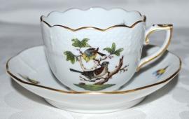 Kop & Schotel IV (6,9 cm.) - Herend Rothschild Bird